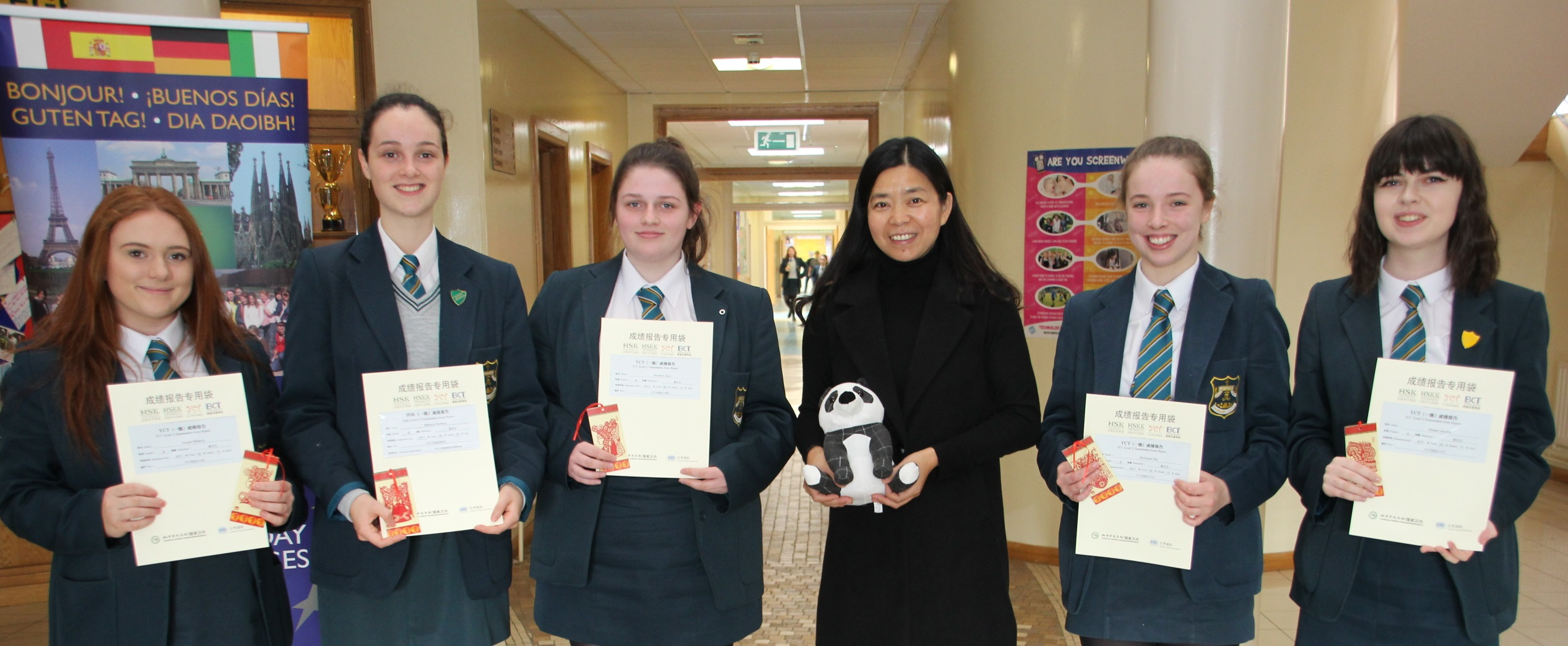 Year 13 with their HSK1 Certificates