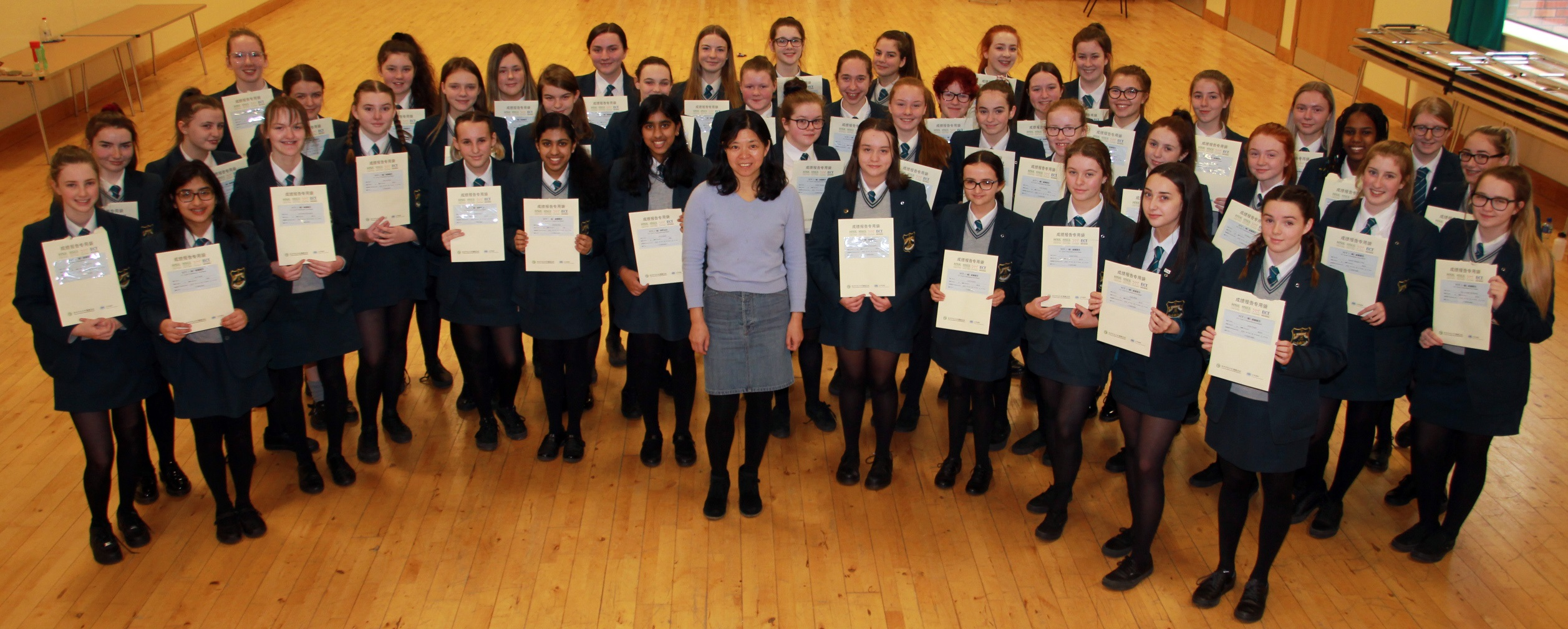 Year 10 pupils with their YCT1 Certificates